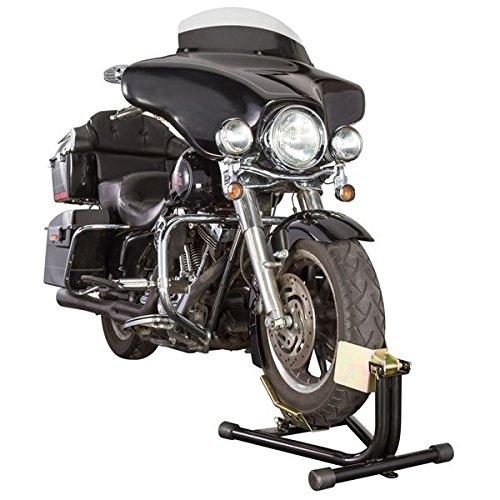 Black Widow BW-CH-DX1 Black 16-18'' Locking Front Motorcycle Wheel Chock, 1 Pack by Black Widow (Image #2)