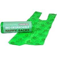 Beaming Baby Bolsas para pañales biodegradables, rollos, 5