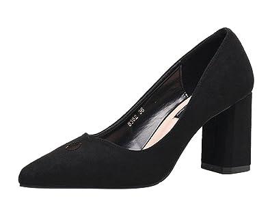Dame High Heels Flachen Mund Einzigen Schuhe Pendeln Arbeit Schuhe