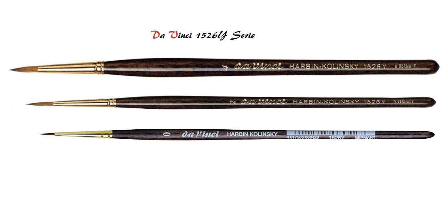 fatto in germania DaVinci ESPACE BEAUX ARTS Da Vinci S/érie 1526Y Harbin-Kolinsky Artist Brush Set Brush 0 2,4