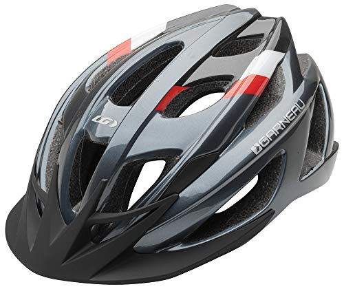 Neon Carbon Fiber Carbon - Louis Garneau Le Tour 2 Lightweight, Adjustable, CPSC Safety Certified Bike Helmet for Men and Women, Gray, Small/Medium
