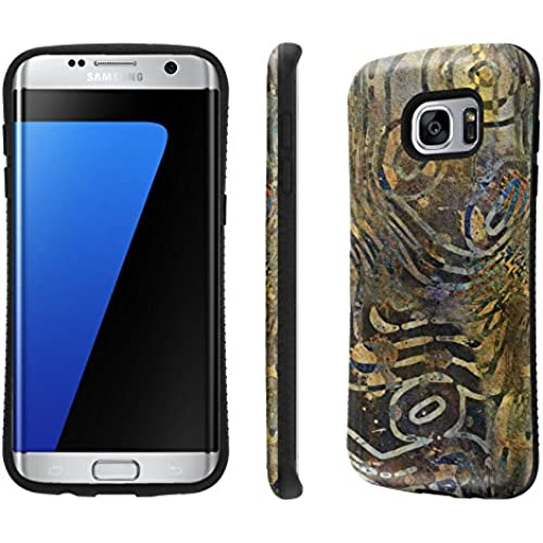 Galaxy S7 Edge / GS7 Edge Case, [NakedShield] [Black Bumper] Heavy Duty Shock Proof Armor Art Phone Case - [Rustik Sales