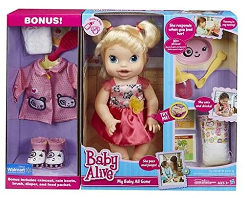 Baby Alive My Baby All Gone Doll With Bonus Accessories