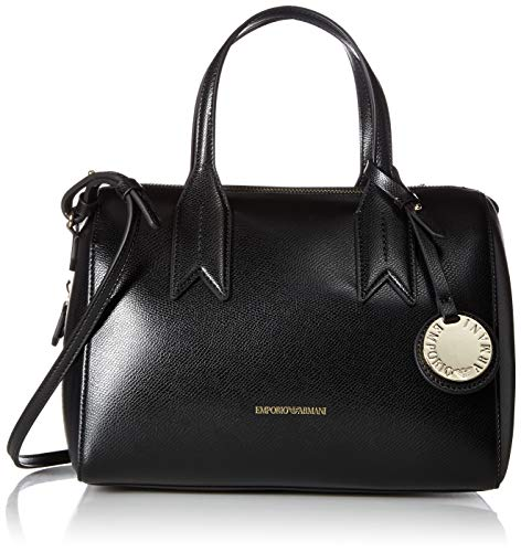 (Emporio Armani Mini Satchel with Money Pouch, black/red)