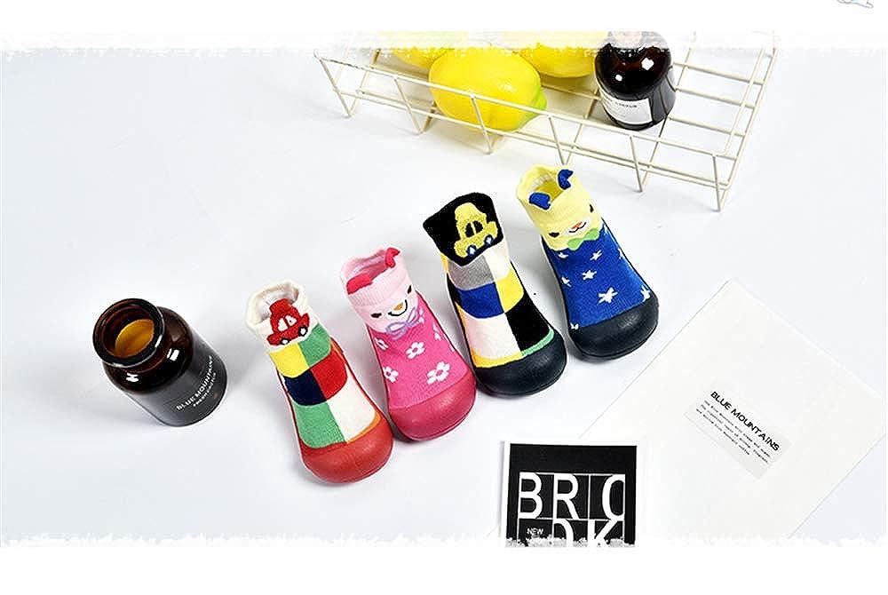 Toddler//Little Kid//Big Kid Baby Boy Girls Toddlers Animal Moccasins Non-Skid Indoor Slipper Winter Warm Shoes Socks