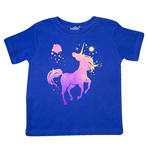inktastic - Unicorn Silhouette with Stars Toddler T-Shirt 5/6 Royal Blue 298af