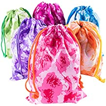 Tie-Dye Camouflage Drawstring Bags Party Favors, Arts & Crafts Activity 12 Pack