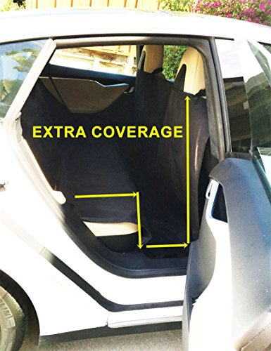 Ablehome EXTRA LARGE HEAVY DUTY PET DOG CAR SEAT COVER WATERPROOF BACK SEAT BLACK