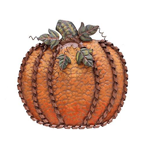 Pumpkin Decoration for Home, Free Standing Metal Flat Pumpkins for Autumn Fall Thanksgiving Harvest Halloween Home Decor -