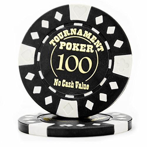 (Pack of 25 Professional Tournament Hot-Stamped 12.5 Gram Poker Chips (Black))