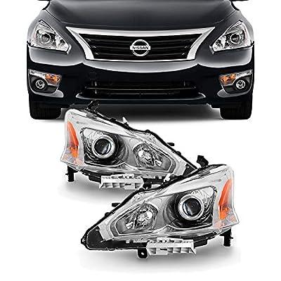 For 13-15 Altima 4 Doors Sedan Halogen Type Headlights Front Lamps Direct Replacement Left + Right Pair: Automotive