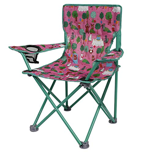 OZARK Trail Kids Youth Folding Chair for All Outdoor Activities (Critter (Pink))