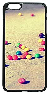 Generic 3D Colorful Candies On The Ground Hard Case for iPhone 6 Plus Black by runtopwell