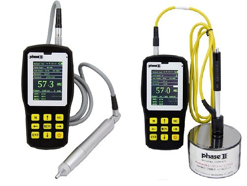 Phase II+ PHT-6080 Ultrasonic Portable Hardness Tester w/ .80kg Probe(motorized) Best for smooth bearing type surfaces.