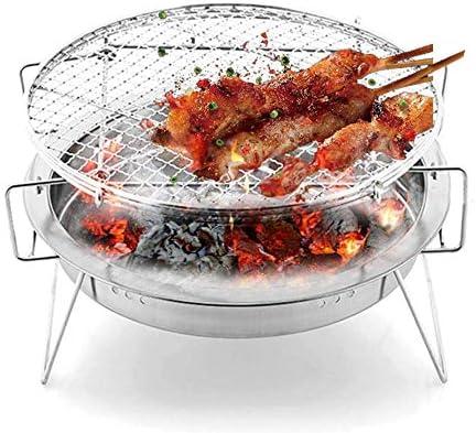 Barbecue de Haute qualité Barbecue, Barbecue en Acier Inoxydable Pliant Portable Grill extérieur Jardin Barbecue au Charbon Poêle Camping Voyage