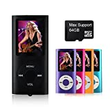 MYMAHDI Support TF Cards Slim 1.8″ LCD Mp3 Mp4 Player Media/Music/Audio Player with accessories Black