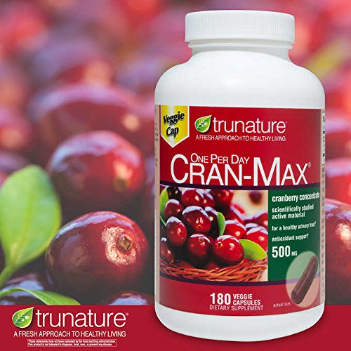 trunature Expect More Cran-MAX Cranberry 500 mg, 180 Veggie Capsules