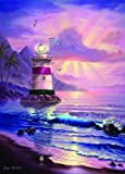 "Lighthouse ""Maui Sunrise"" 1000 Piece Jigsaw Puzzle By Jeff Wilkie - Includes 100 Whimsy Pieces"