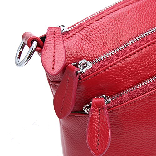 Crossbody Heshe Satchel Leather Shoulder Wine Ladies Bag Small Handbags and Designer Womens Bags for Handbag Purses RRrwqTz