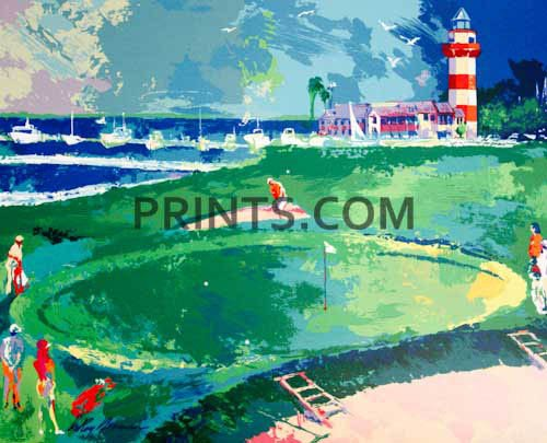 LeRoy Neiman - 18th at Harbour Town Open Edition Serigraph on Paper