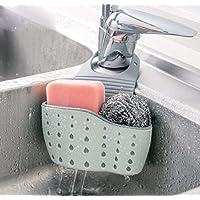 Storage Basket With Foam Sponge Scourer Caddy Soap Dish Sink Organizer Faucet Sponge Holder Hanging Basket Kitchen…