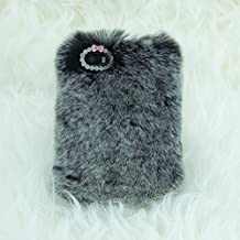 """iPhone 5S Case, Firefish [Winter Fit] With Tiny Exquisite Bowknot Warm Fluffy Touch Slim Fur Case Cover for Apple iPhone 5/5S (4.7"""")+ Premium Stylus and Pluggy -Grey"""