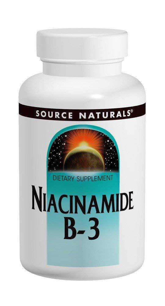 Source Naturals Niacinamide Vitamin B-3 100mg, 250 Tablets (Pack of 3)