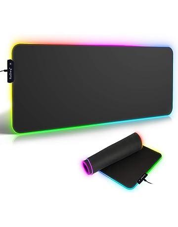 Alfombrilla de Ratón RGB Extra Grande, Ordenador Extended XL Alfombrilla Gaming de Microfibras con Luces