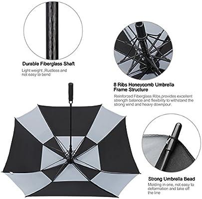 G4free - Paraguas Cuadrado de Doble toldo para Golf ...
