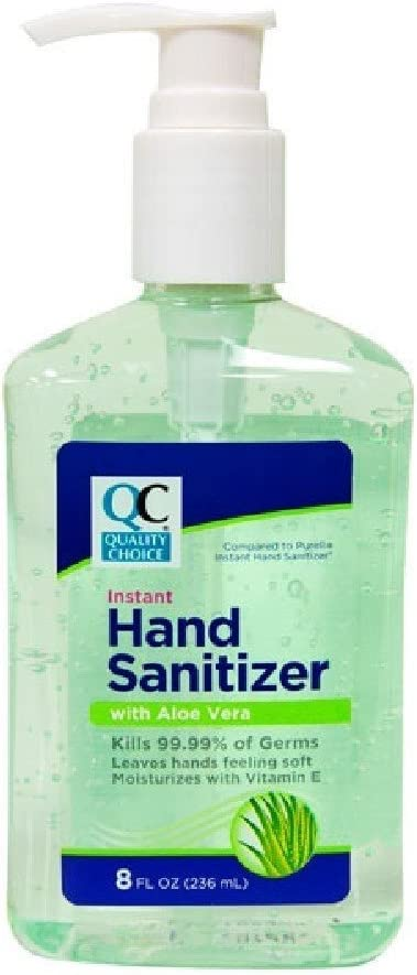 Amazon Com Quality Choice Hand Sanitizer With Aloe Vera 8 Ounces
