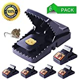 fibevon Mouse Trap, Rat/Mice Trap That Work Humane Power Rodent Killer 100% Mouse Catcher [Quick & Effective & Reusable & Sanitary] Safe for Families and Pet - 6 Pack