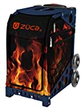 Zuca Fire Blaze Sport Insert Bag and Navy Blue Frame with Flashing Wheels