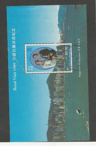 Hong Kong, Postage Stamp, #559a Crease Used, 1989 Princess (Princess Postage)