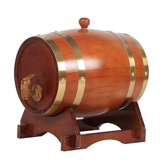 ZGQJT Barril de Vino de Roble marrón 3L Barril de Madera ...
