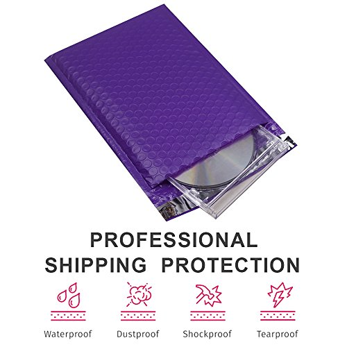 Mailer Plus #0 Purple Poly Bubble Mailers 6x10 Padded Envelopes 25pcs Photo #4