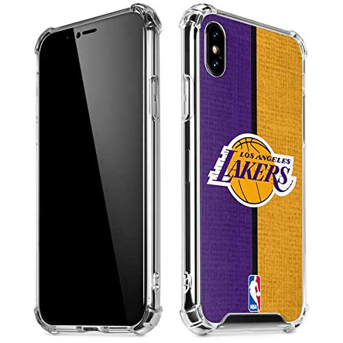 Skinit Los Angeles Lakers Canvas iPhone XR Clear Case - Officially Licensed NBA Phone Case Clear - Transparent iPhone XR Cover