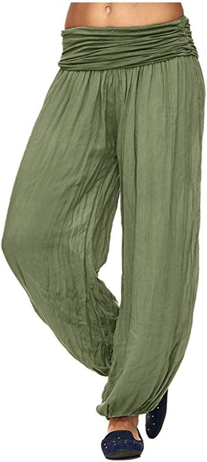 POHOK Women Yoga Pants Loose Womens Bohemian Harem Yoga ...