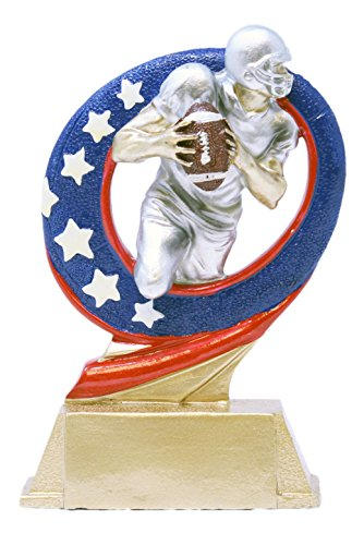 - Decade Awards Football Superstar Trophy - Gridiron Award - 6.5 Inch Tall - Engraved Plate on Request