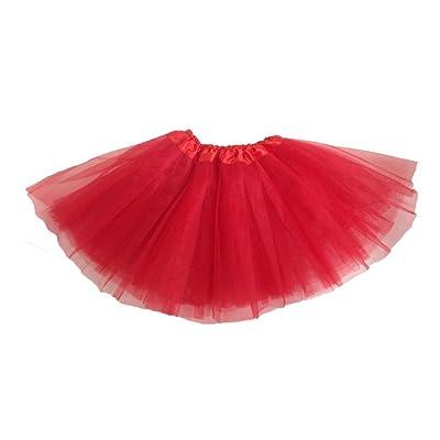 Girls Ballet Tutu Red: Toys & Games