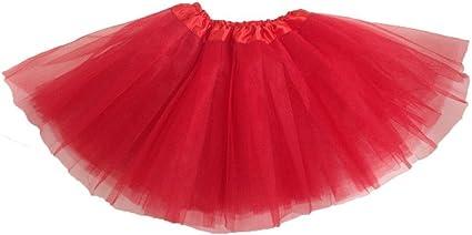 Kids Girls Red And Green Tutu Skirt Children Fancy Party Dance Wear Mini Skirt
