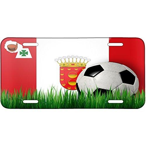 Soccer Team Flag La Gomera region Spain Metal License Plate 6X12 Inch by Saniwa