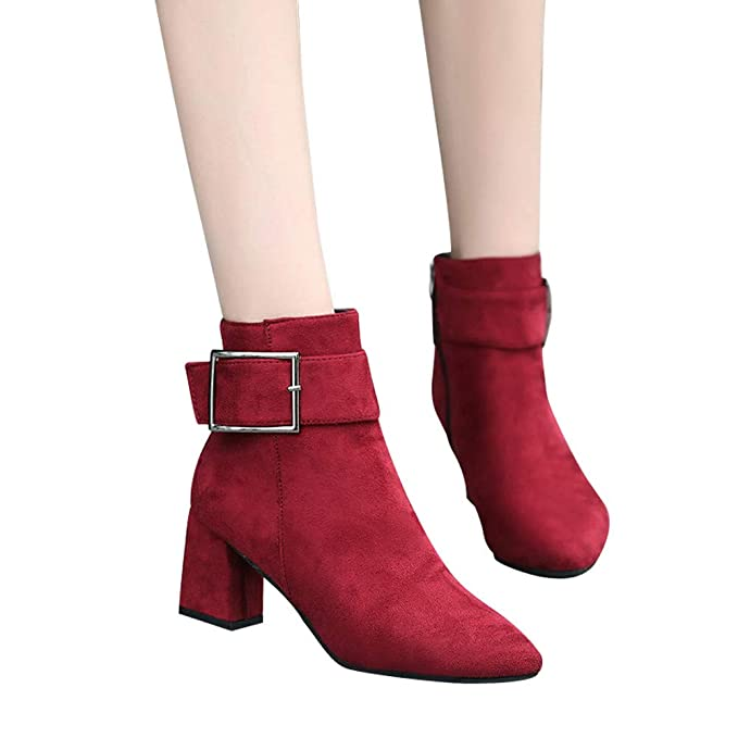 4a7ddad54aa5 Image Unavailable. Image not available for. Color  Hemlock Women Suede Boots  High Heel Ankle ...