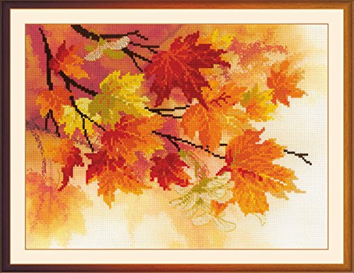 autumn stamped cross stitch kit