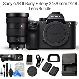 Sony a7R II Full-Frame Mirrorless Interchangeable Lens Camera, Body & Sony FE 24-70mm f/2.8 GM Lens Kit + DigitalAndMore Camera & Lens Cleaning Solution