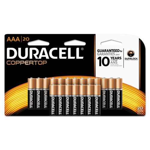 Duracell Coppertop AAA Alkaline Batteries, 20 Count (Pack of 4)