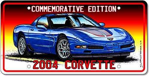 2004 Commemorative Edition Corvette License Plate Art
