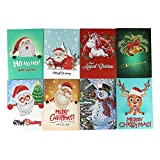 Unique Greeting Card Old Man Snowman Art Craft DIY Painting Gift Card(07)