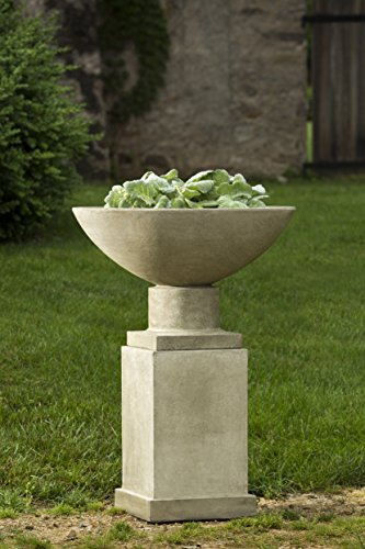 Savoy Planter with Pedestal, Copper Bronze Finish Copper Pedestal Planter