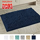 Best Rug Bathrooms - 20x32 inch Oversize Non-slip Bathroom Rug Shag Shower Review