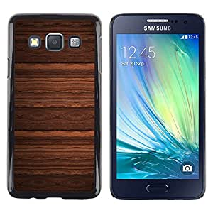 Stuss Case / Funda Carcasa protectora - Wallpaper Design Wood Imitation Brown - Samsung Galaxy A3 SM-A300